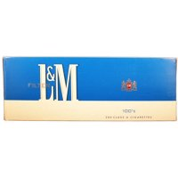 L&M BLUE 100s BOX cigarettes 10 cartons
