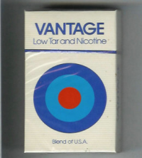 Vantage Low Tar and Nicotine hard box cigarettes 10 cartons