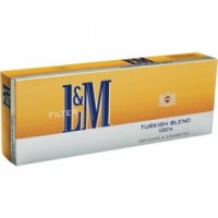 L&M Turkish Blend 100's Cigarettes 10 cartons