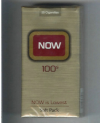 Now 100s Now is Lowest soft box cigarettes 10 cartons