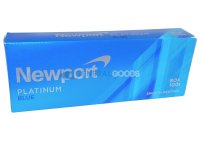 Newport Platinum Blue Menthol 100's Box Cigarettes 10 cartons