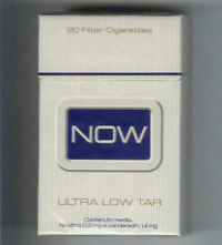 Now Ultra Low Tar hard box cigarettes 10 cartons
