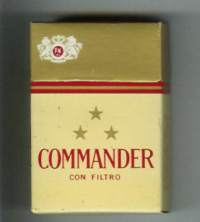Commander Con Filtro gold cigarettes 10 cartons
