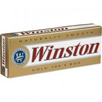 Winston Gold 100's box cigarettes 10 cartons