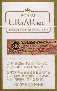 Bohem Cigar No.1 cigarettes 10 cartons