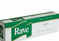 Rave Menthol Dark Green Kings cigarettes 10 cartons