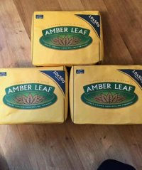 10 X Amber Leaf 50g Pouch FULL UNOPENED PACK