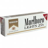 Marlboro Lights 25s Gold Pack Box cigarettes 10 cartons