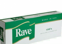 Rave Menthol Dark Green 100's cigarettes 10 cartons