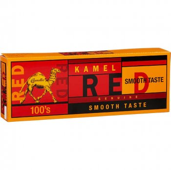 Kamel Red Smooth Taste 100\'s Box cigarettes 10 cartons