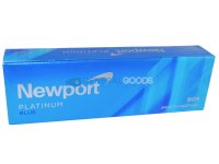 Newport Platinum Blue Menthol Box Cigarettes 10 cartons