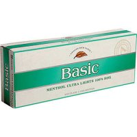 Basic Menthol Ultra Lights 100's Silver Pack Box cigs 10 cartons
