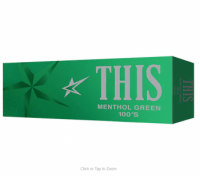 THIS Menthol Green 100s Box cigarettes 10 cartons