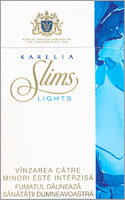 Karelia Slims Lights (Blue) 100`s Cigarettes 10 cartons