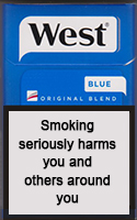 WEST BLUE cigarettes 10 cartons