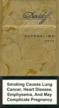 Davidoff Super Slims Gold Cigarettes 10 cartons