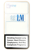L&M Slims Marine Blue Cigarettes 10 cartons