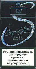R1 Super Slims Black Diamond 100`s Cigarettes 10 cartons