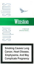 Winston Super Slims Fresh Menthol 100s Cigarettes 10 cartons